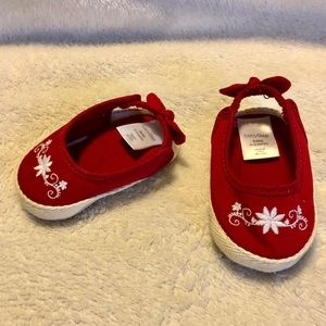 5/$10 Baby GAP red espadrilles newborn 0-3 mo